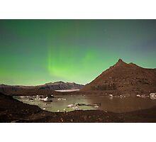 Aurora over Svinafellsjokul Photographic Print