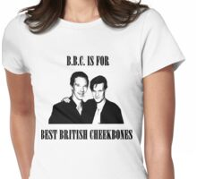 BEST BRITISH CHEEKBONES Womens Fitted T-Shirt