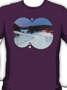 Country road through winter wonderland II | landscape photography T-Shirt