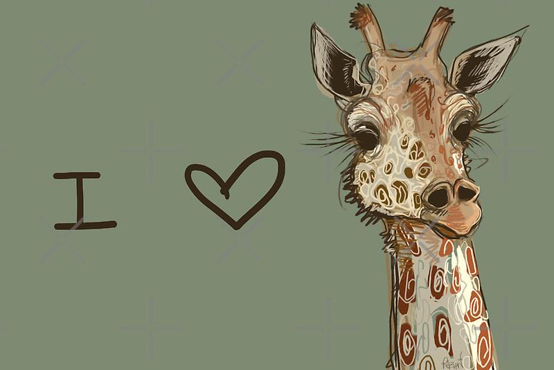 Lovely Lashes Giraffe by Razvan-Sedekiah