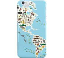 animal world map  iPhone Case/Skin