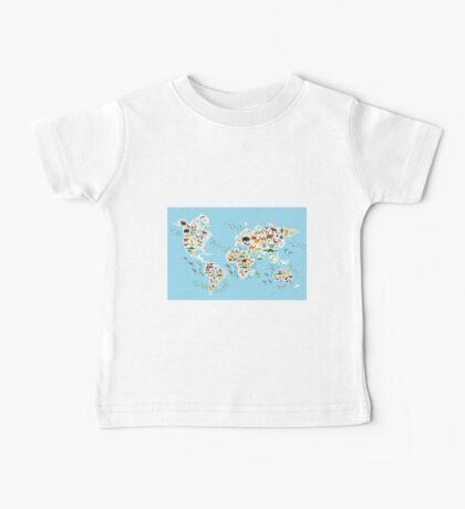 animal world map  Baby Tee