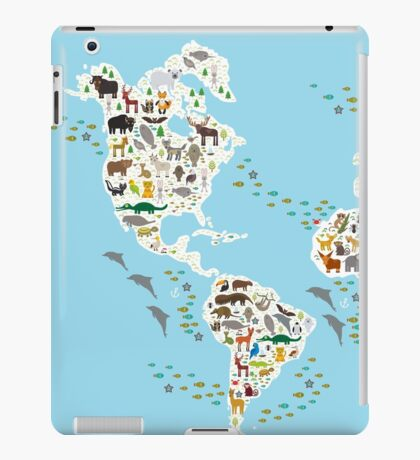 animal world map  iPad Case/Skin