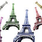Eiffel Tower Paris colorfull by Feli Caravaca