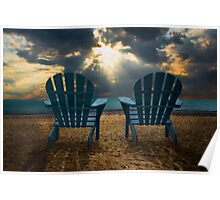 Evening Splendor at the Beach Poster