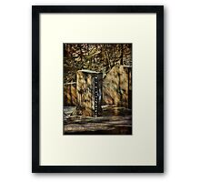 Stream Gauge  Framed Print