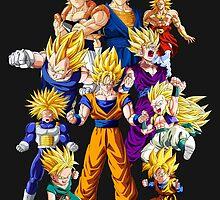 Dragon Ball Z All Star Super Saiyan - Goku, Vegeta & More by kyzson69