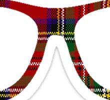 Tartan Geek Glasses Sticker