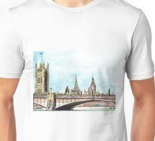 Lambeth Bridge and The Palace of Westminster. T-Shirt