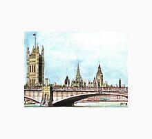 Lambeth Bridge and The Palace of Westminster. Unisex T-Shirt