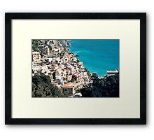 Italy. Amalfi Upside Framed Print