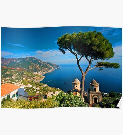 Italy. Amalfi Treescape Poster