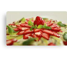 strawberry dessert Canvas Print