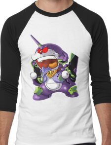 doraemon evangelion Men's Baseball ¾ T-Shirt