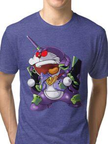 doraemon evangelion Tri-blend T-Shirt