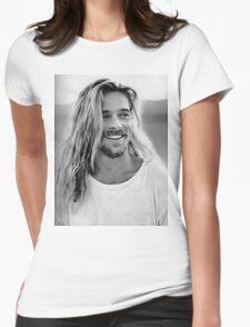 Brad Pitt Womens Fitted T-Shirt