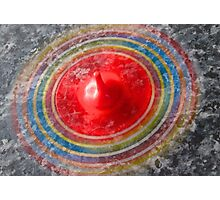 Coloured Spinning top  Photographic Print