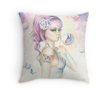Butterfly Bubbles By Scot Howden Throw Pillow