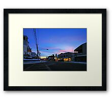 Crosswalk Blues Framed Print