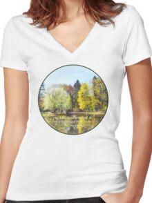 Solomon 2 11-12 -  The flowers appear  Women's Fitted V-Neck T-Shirt