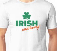 Irish and horny shamrock Unisex T-Shirt