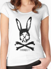 ...and so we inHABIT. (black) Women's Fitted Scoop T-Shirt