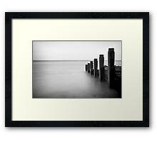 Groynes Framed Print