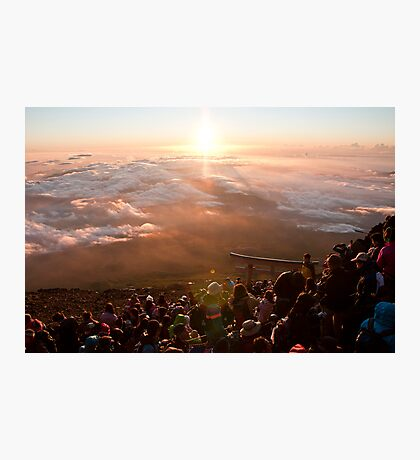 Peak of Mt. Fuji-san Photographic Print