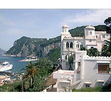Italy, Capri overlook Photographic Print