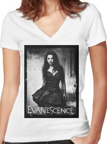 Amy Lee From Evanescence Women's Fitted V-Neck T-Shirt
