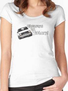 Ford Escort Rally Car Women's Fitted Scoop T-Shirt