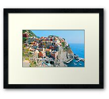 Italy. Cinque Terre - Cliffside Framed Print
