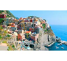 Italy. Cinque Terre - Cliffside Photographic Print