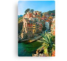Italy. Cinque Terre - Canal side Canvas Print