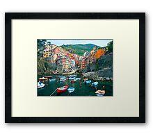 Italy. Cinque Terre marina  Framed Print