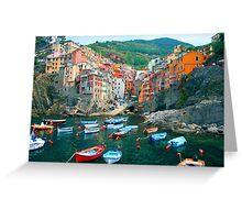 Italy. Cinque Terre marina  Greeting Card