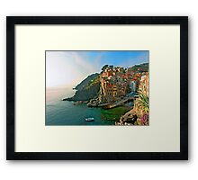 Italy. Cinque Terre - canals Framed Print