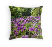 A Display of Alliums  Throw Pillow