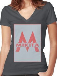 Retro 60's CTA Sign Mikita Women's Fitted V-Neck T-Shirt