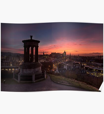 Dugald Stewart Monument at Sunset Poster
