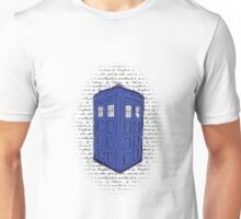 Police Box with handwriting Unisex T-Shirt