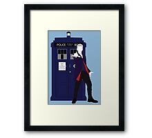 Twelve and the TARDIS Framed Print