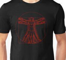 Vitruvian Nurse (red) Unisex T-Shirt