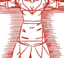 Vitruvian Nurse (red) Sticker