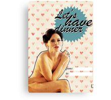 Irene Adler Valentine's Day Card Canvas Print