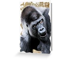 Say What Surprised Gorilla Greeting Card