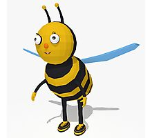 Cartoon bee low poly style Photographic Print