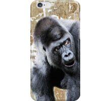 Say What Surprised Gorilla iPhone Case/Skin