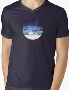Aurora borealis and polar bears (light version) Mens V-Neck T-Shirt