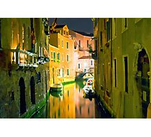 Italy. Venice in yellow Photographic Print